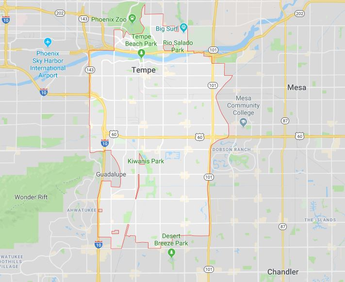 Tempe, Arizona map by One Stop Property Services LLC
