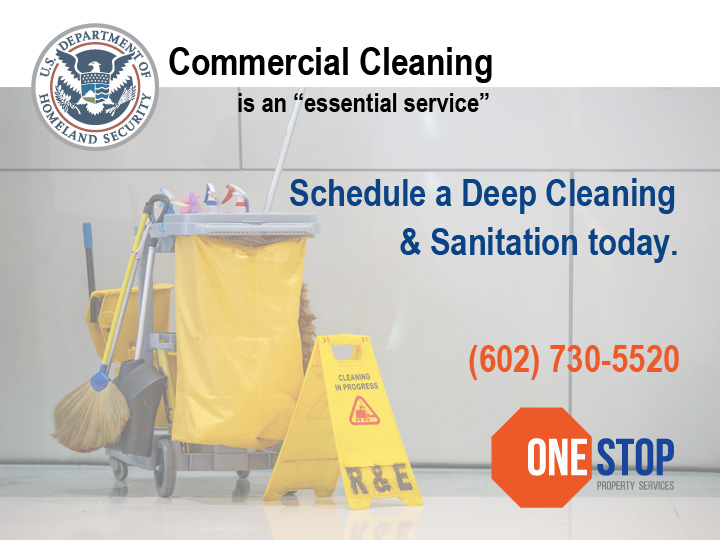 Cleaning is an essential serve according to Homeland Security